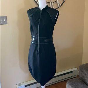 Magaschoni Black Sleeveless Moto Dress Size 10